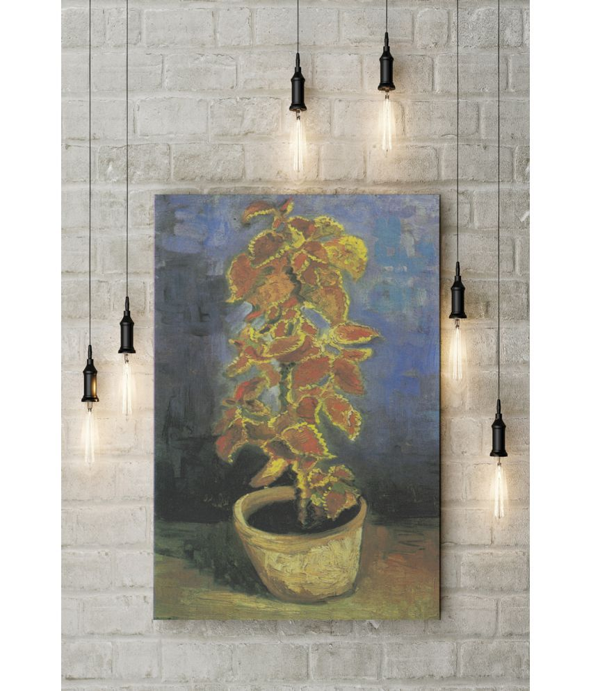 Canvs Coleus Plant in a Flowerpot, 1886 Wood Art Prints With Frame Single Piece