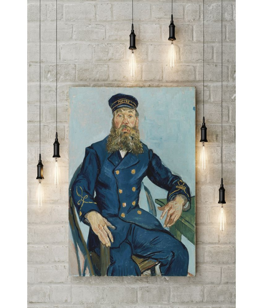 Canvs Portrait of the Postman Joseph Roulin (1841–1903) Wood Art Prints With Frame Single Piece