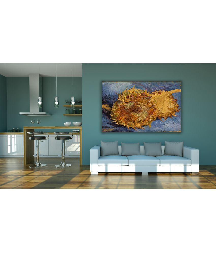 Canvs Sunflowers(F.375) Wood Art Prints With Frame Single Piece