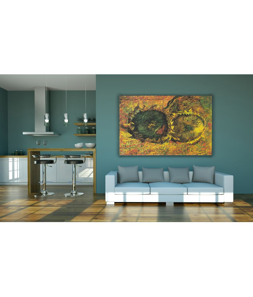 Canvs Sunflowers (F.376) Wood Art Prints With Frame Single Piece