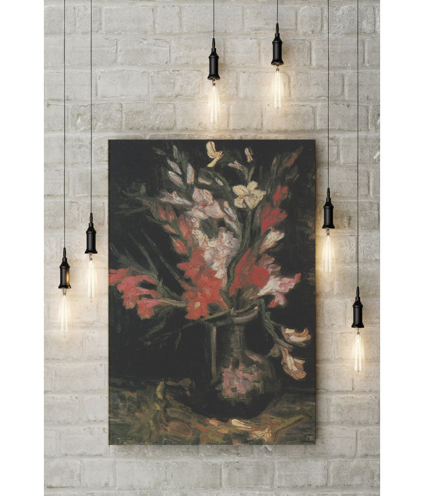 Canvs Vase with Red Gladioli II, 1886 Wood Art Prints With Frame Single Piece