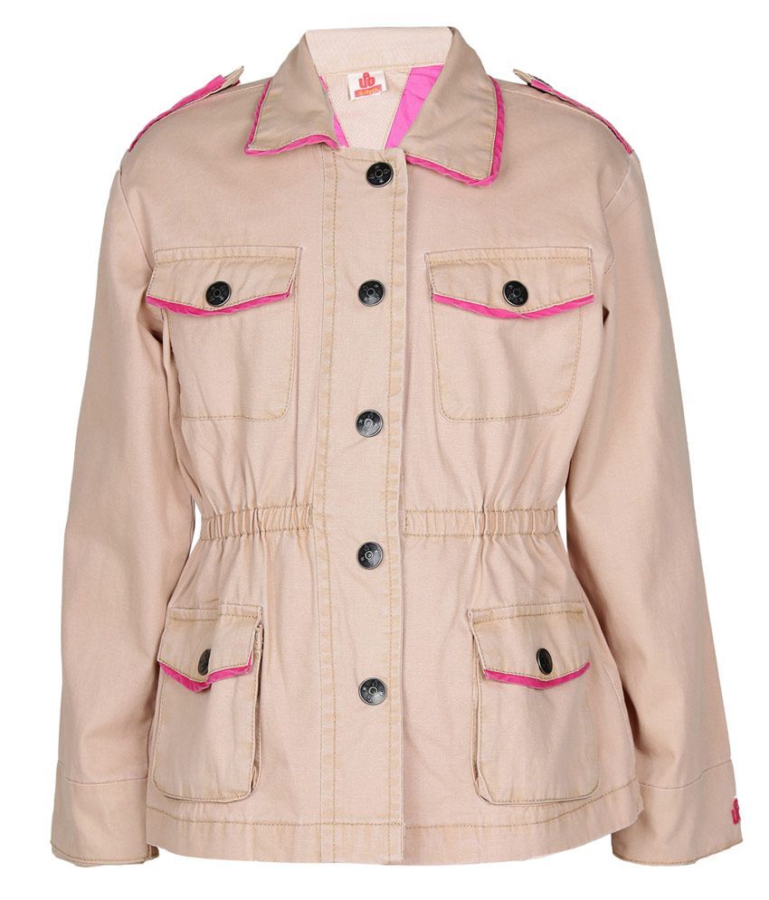 UFO Beige Without Hood Full Sleeves Jacket