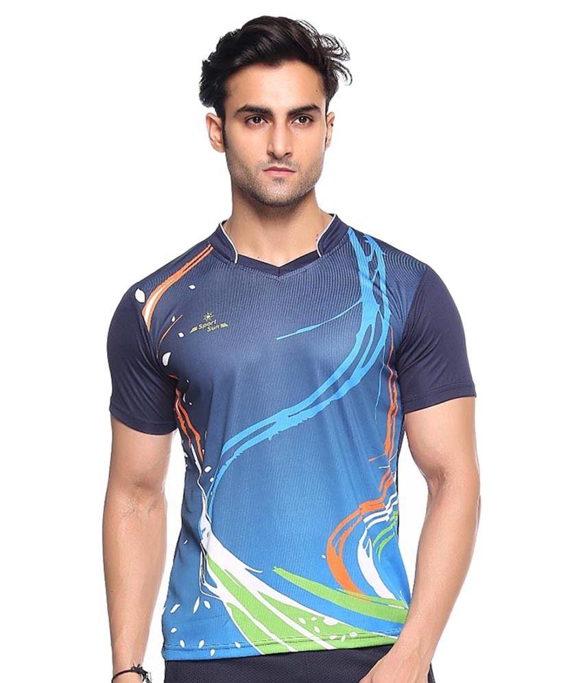 Sport Sun Multi Polyester T-Shirt Pack of 2