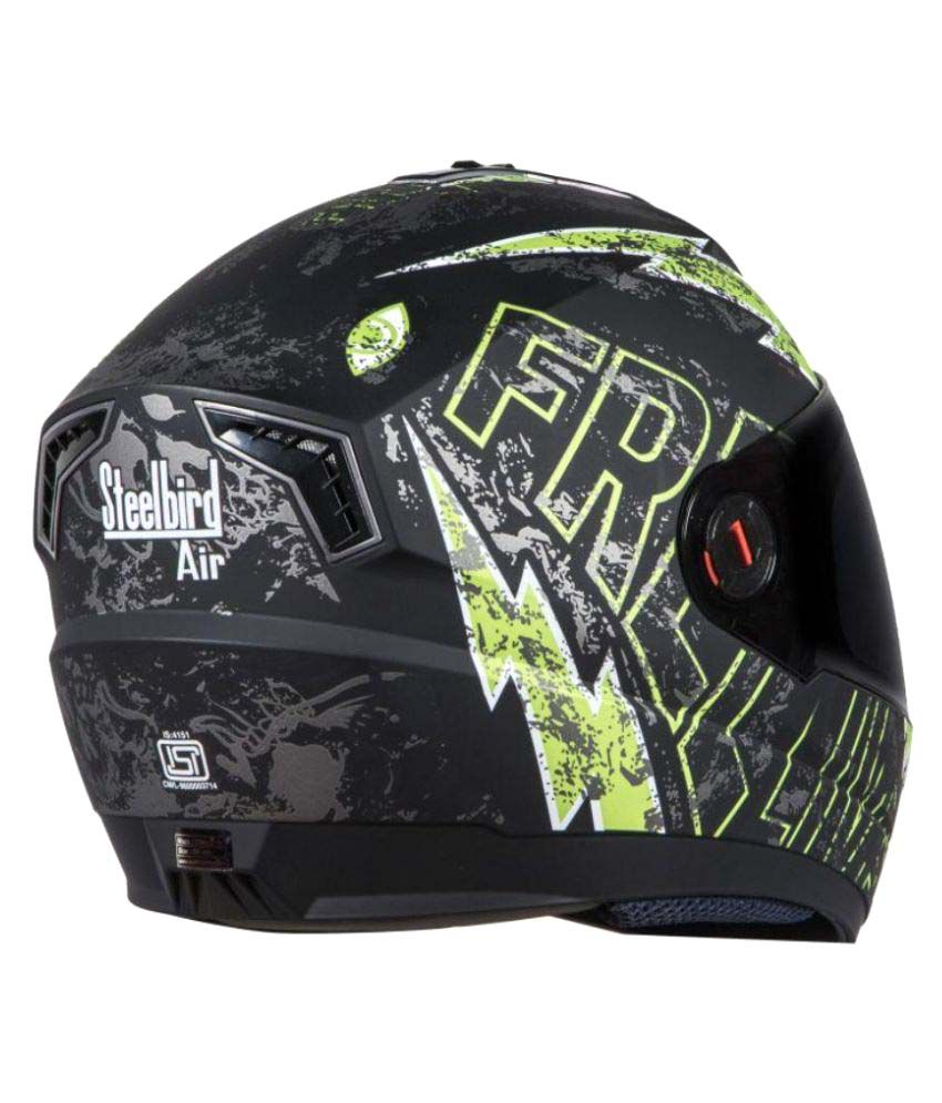 03471e727 Steelbird Air SBA 1 - Full Face Helmet Matte Black M  Buy Steelbird ...