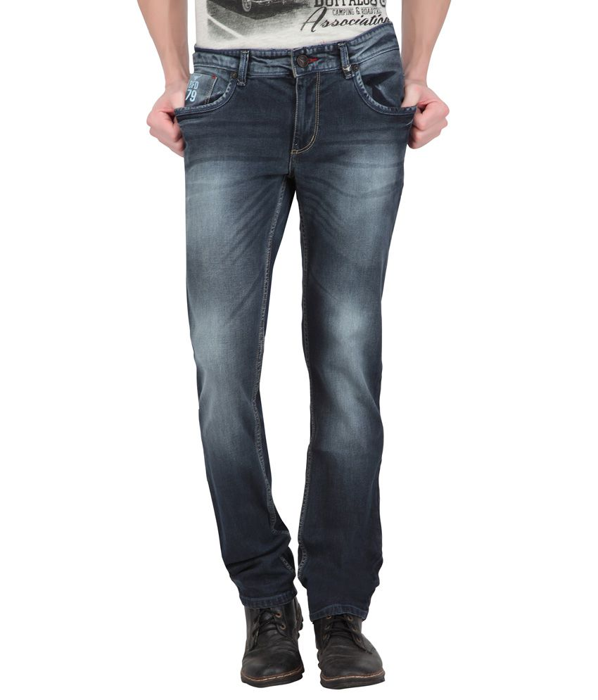 Buffalo By Fbb Blue Skinny Fit Jeans Snapdeal Price Jeans