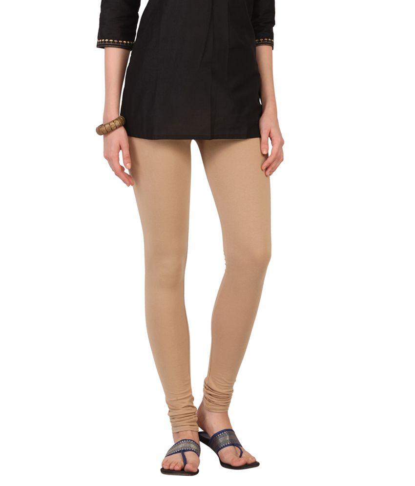 27c7f36b456c89 Srishti By FBB Beige Solid Churidar Leggings Price in India - Buy Srishti By  FBB Beige Solid Churidar Leggings Online at Snapdeal