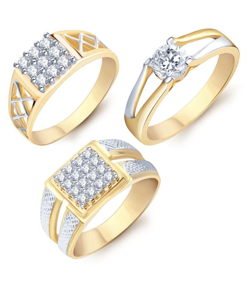 Sukkhi Golden Ring - Set of 3: Buy Sukkhi Golden Ring - Set of 3 ...