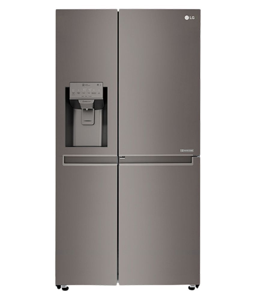 Lg 668 Ltr Gc J247ckav Side By Side Refrigerator Black Sts Price In