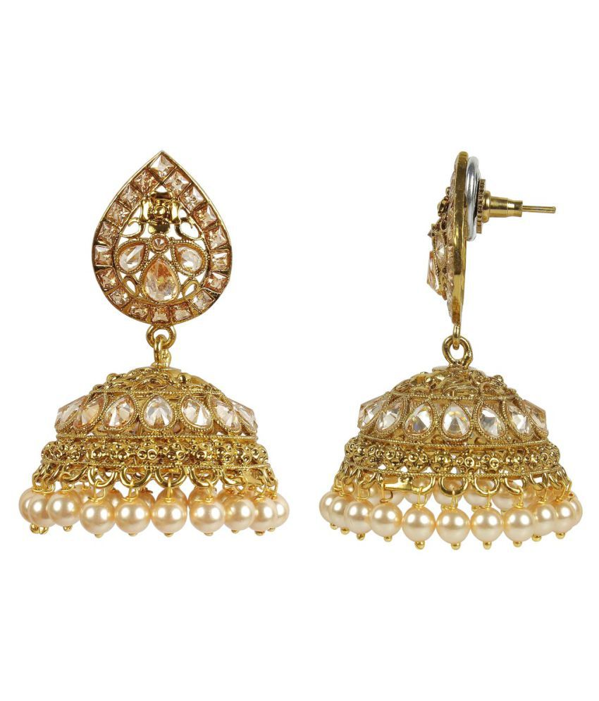 mango buy jhumki tear golden earrings drop south dp jhumka indian