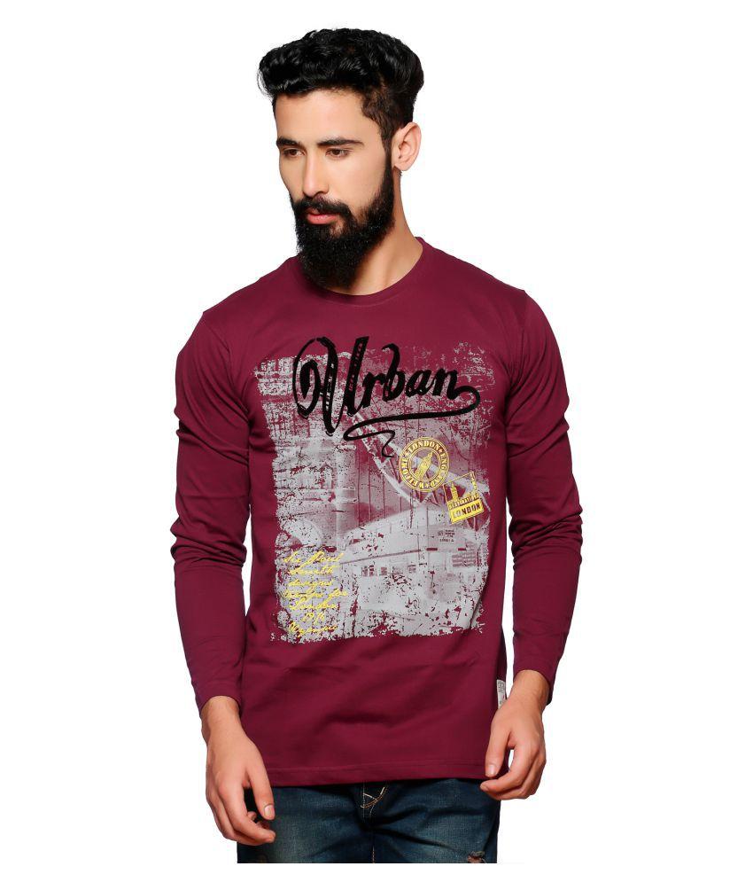 Nucode Maroon Round T-Shirt
