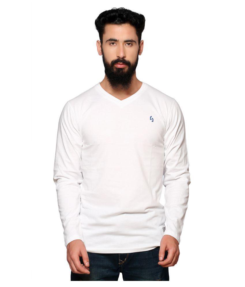 Nucode White V-neck T-Shirt