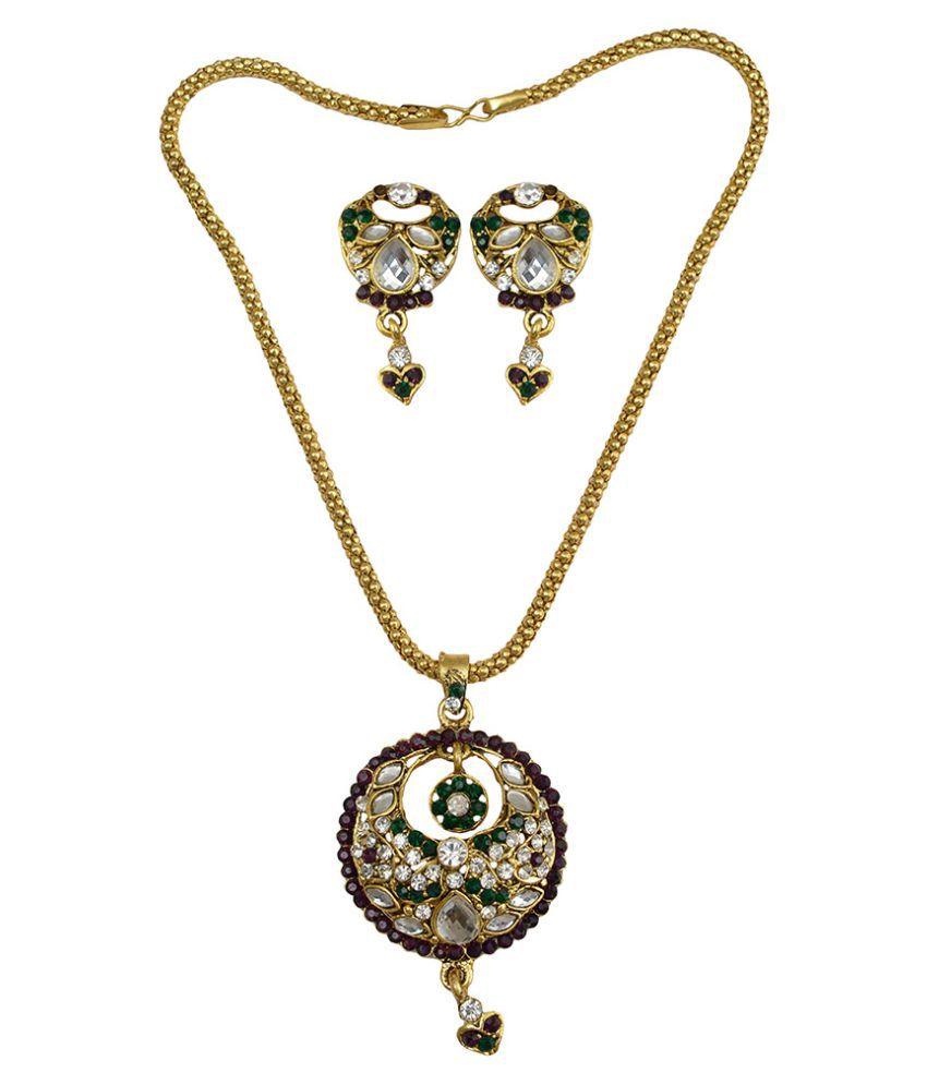 Taj Pearl Multicolor Pendant Set