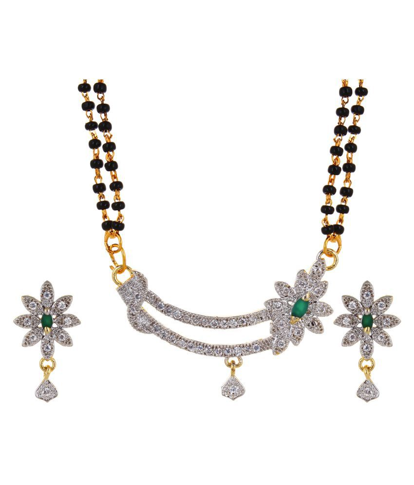 Zevar Green Multicolor Mangalsutra Set