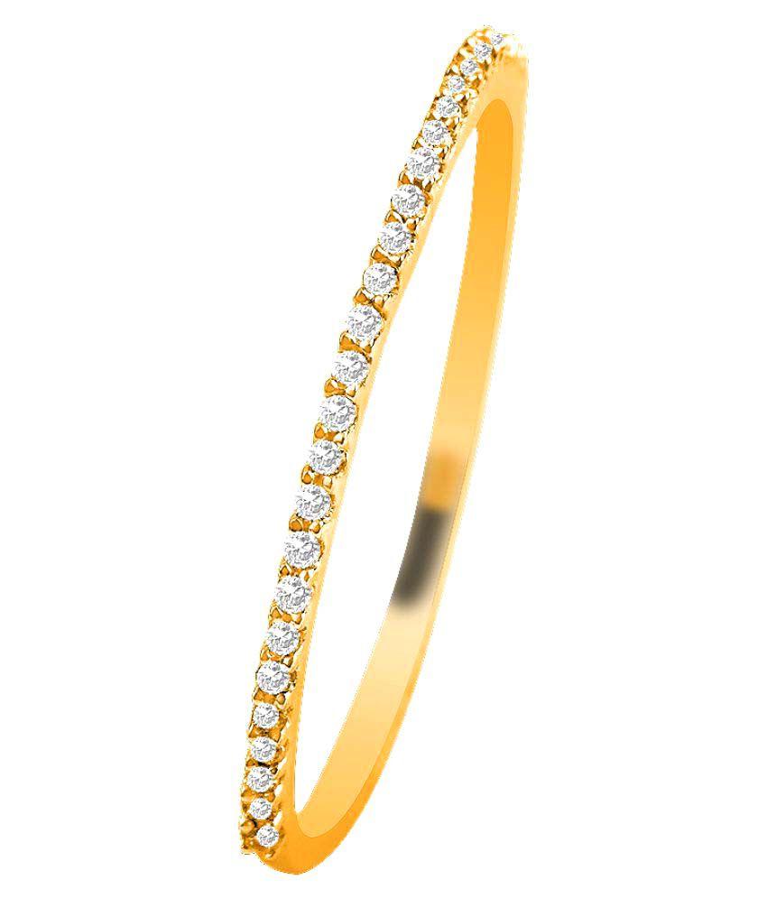 Sparkles 9K Yellow Gold Diamond Ring