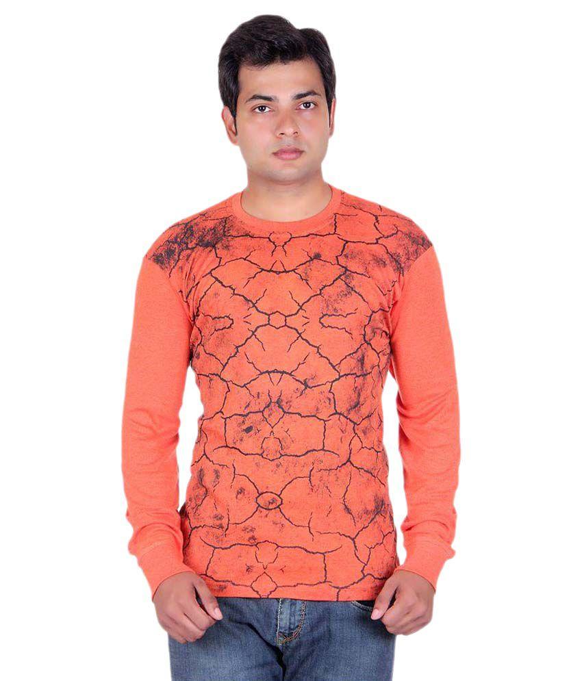 Dear Class Orange Round T-Shirt