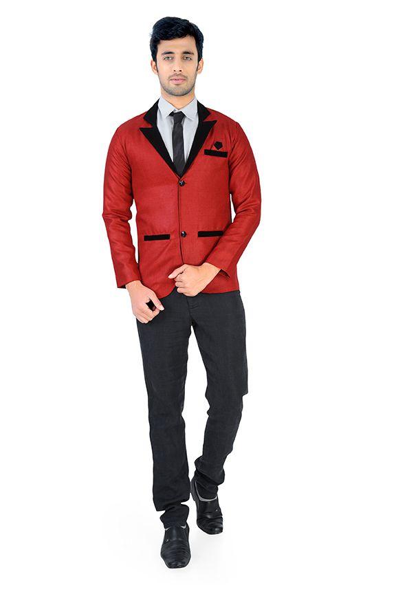 Nu Abc Garments Red Plain Party Wear