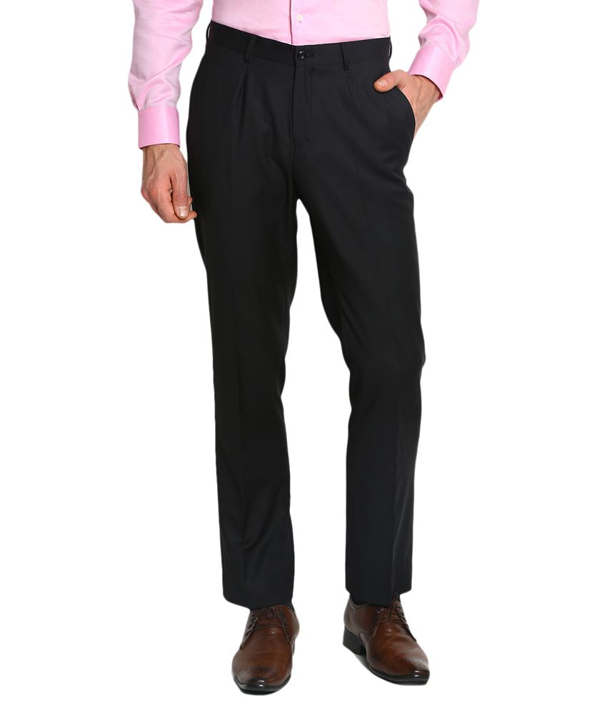Blackberrys Black Regular Flat Trouser