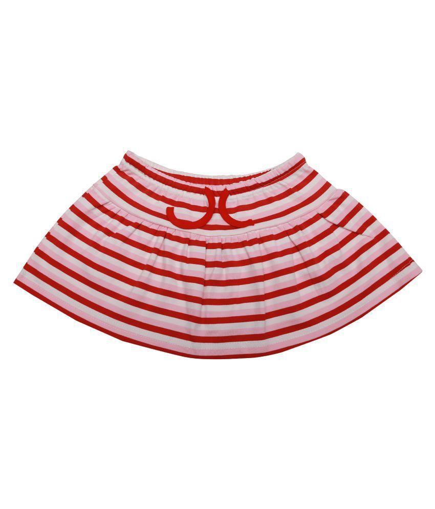 Kaboos Multicolor Cotton Skirt for Baby Girls