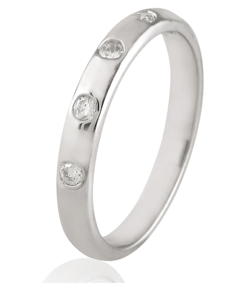 Sparkles 9K White Gold Diamond Ring