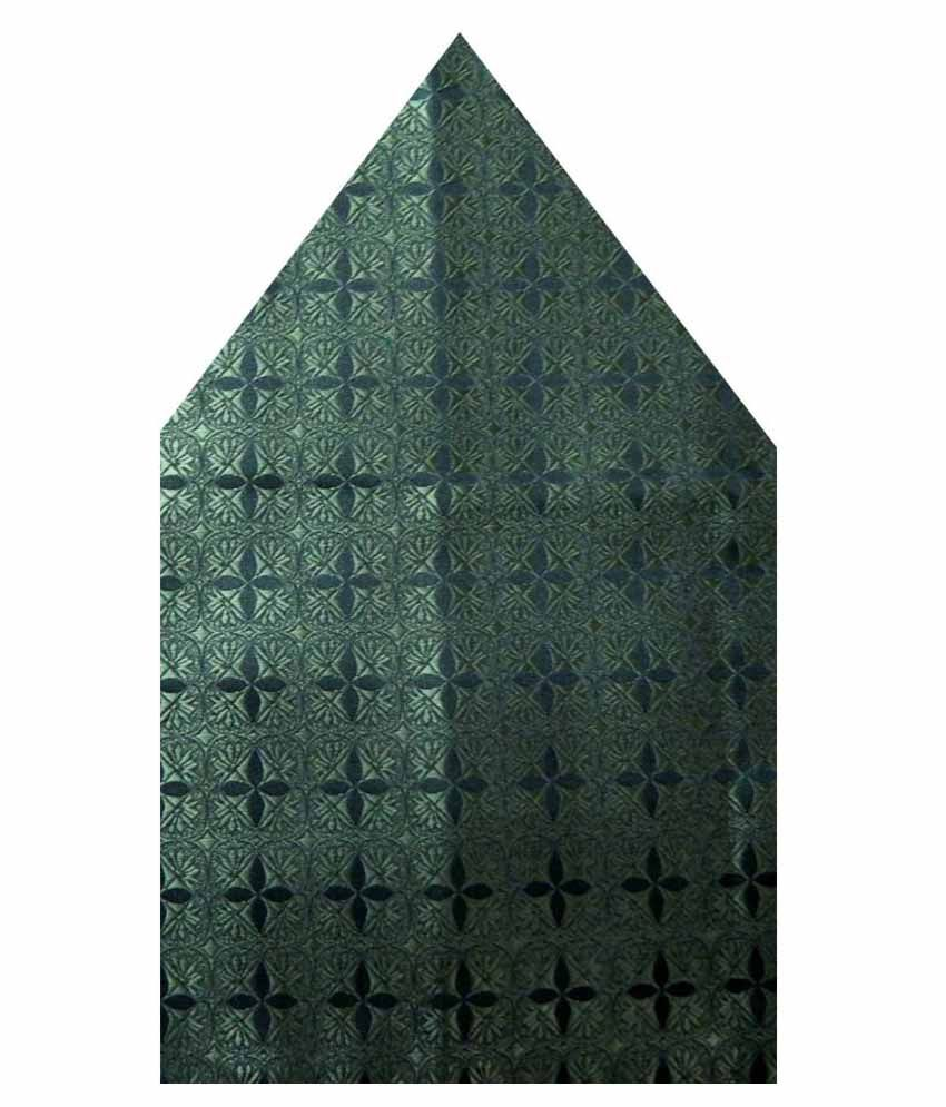 Navaksha Green Micro Fiber Pocket Square
