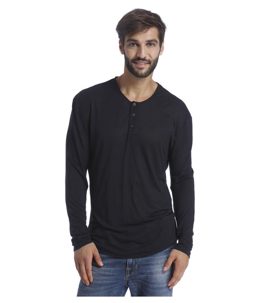 Selected Black Henley T-Shirt