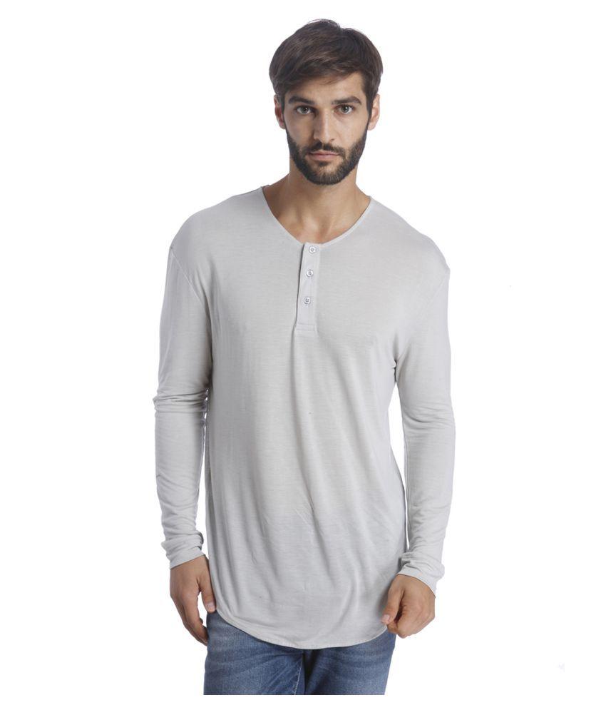 Selected Grey Henley T-Shirt