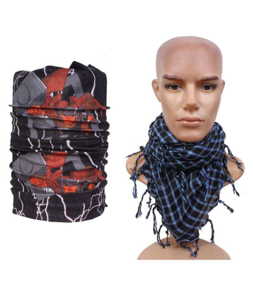 Jstarmart Multicolor Headwrap with Scarf
