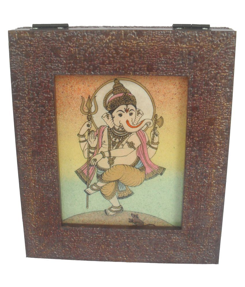 Sheela's Arts & Crafts Brown Jewellery Box