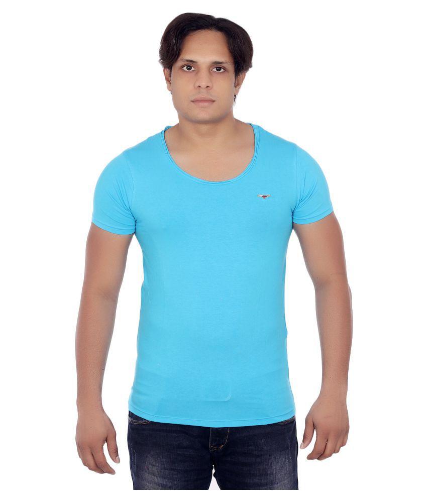 Fashion Monster Blue Round T-Shirt