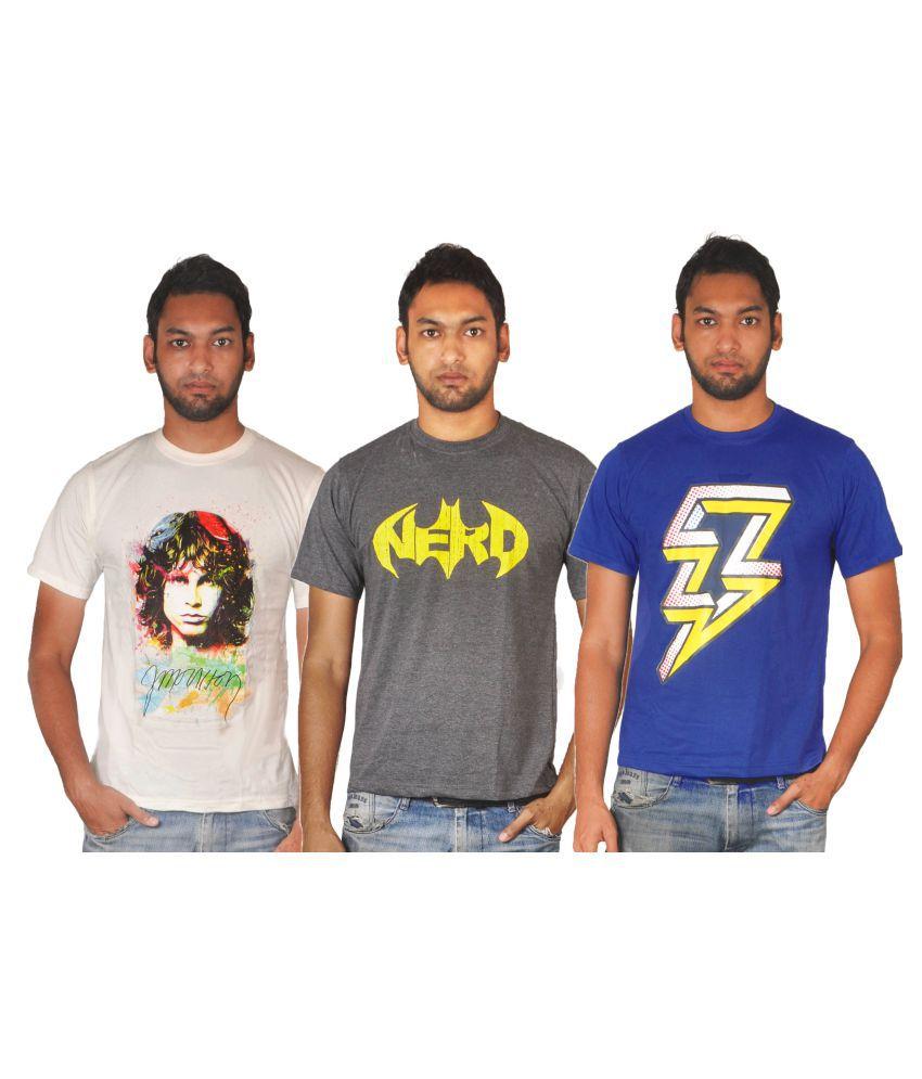 Blare Boom Multi Round T-Shirt Pack of 3