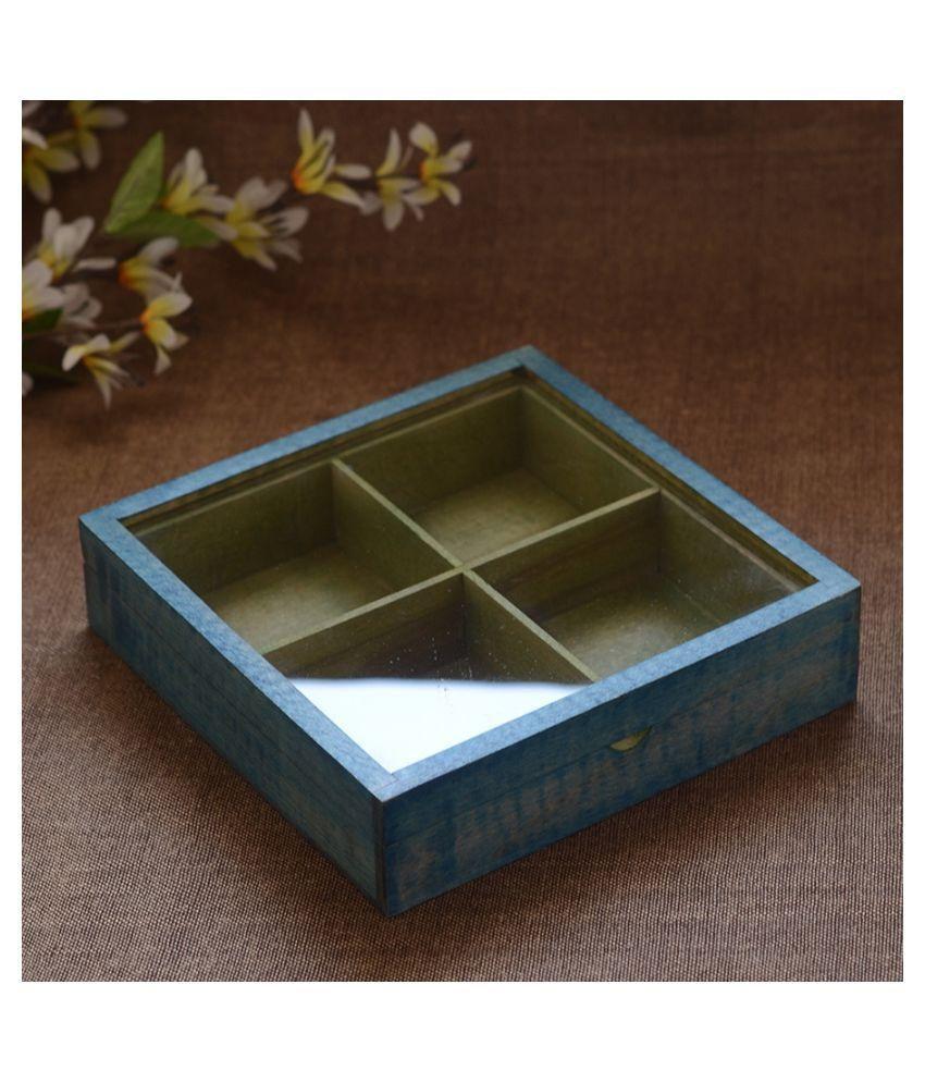 Unravel India Wooden Utility/Masala Box