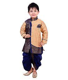 Arshia Fashions Multicolour Dhoti Kurta Set For Boys