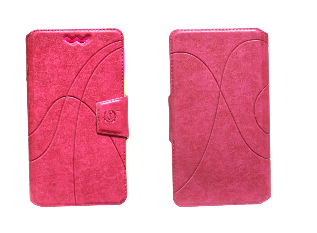 Lenovo A390 Flip Cover by Jojo   Pink available at SnapDeal for Rs.590
