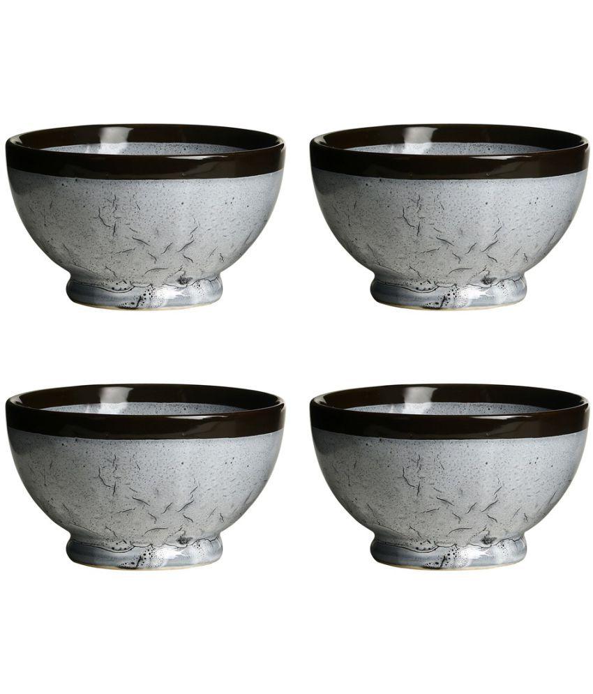 Caffeine 4 Pcs Ceramic Fruit Bowl 800 ml each ml