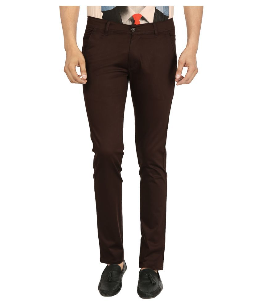 Black Unicorn Brown Regular Flat Trouser