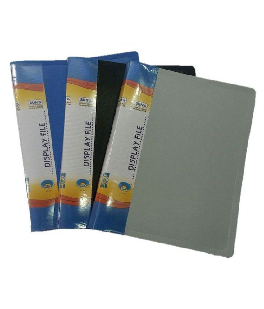 Sun's Display File 40 pockets - Pack of 3