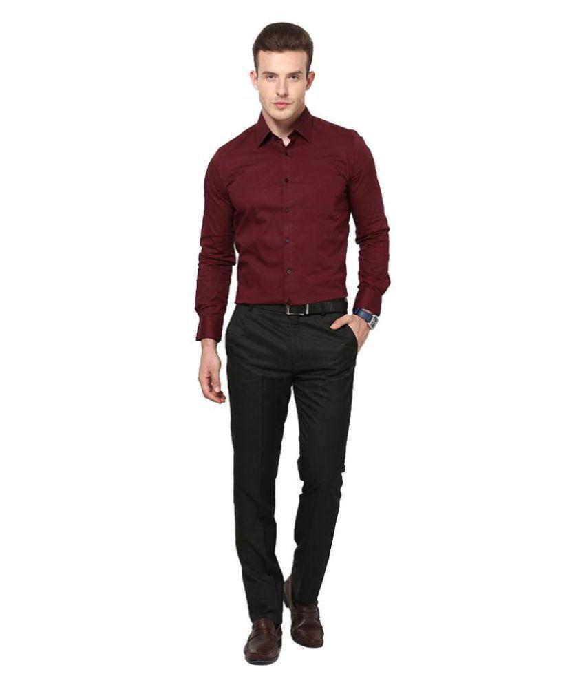Maroon Mens Shirt - T Shirt Design Collections