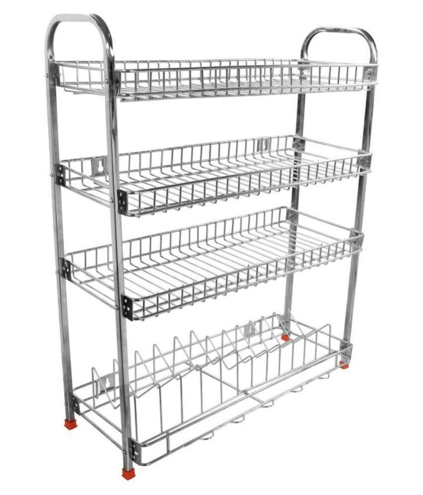 Kitchen Racks Stainless Steel Buy Aarzoo Mudular Stainless Steel Kitchen Rack Online At Low