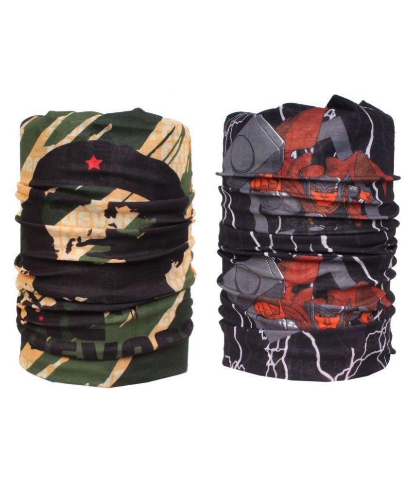 Jstarmart Multicolour Polyester Bandana - Pack of 2