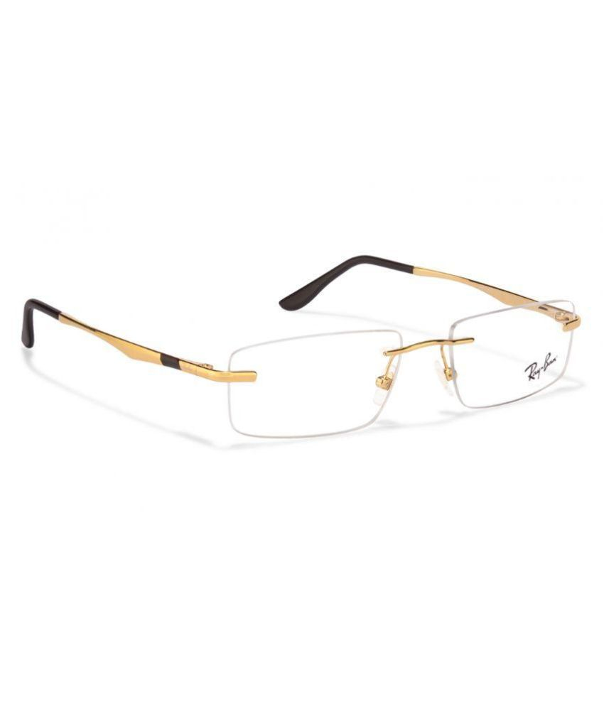 Ray-Ban Golden Rectangle Spectacle Frame Rx 6266 2500 53