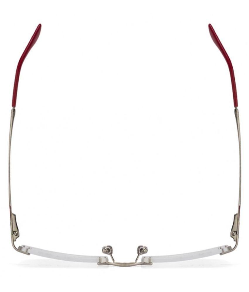 a885b08c8f042 Ray-Ban Silver Rectangle Spectacle Frame RX 6266 2501 53 - Buy Ray ...