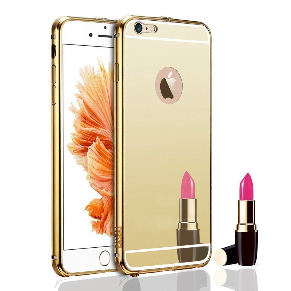 Mirror Back Cover For Apple iPhone 6 + Zipper earphone free by Style Crome.