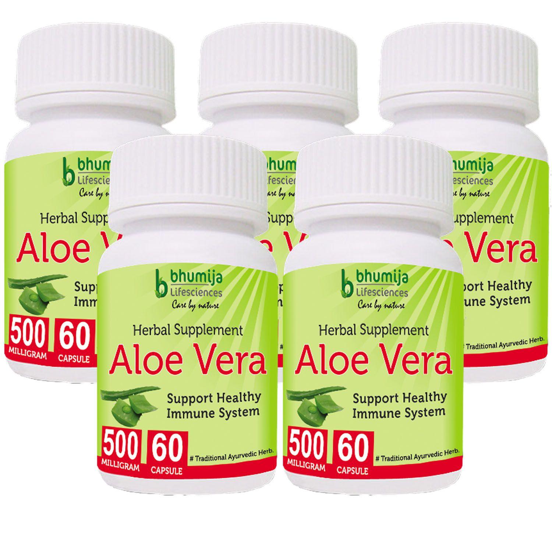 Aloevera Capsules 60's (Pack of Five)