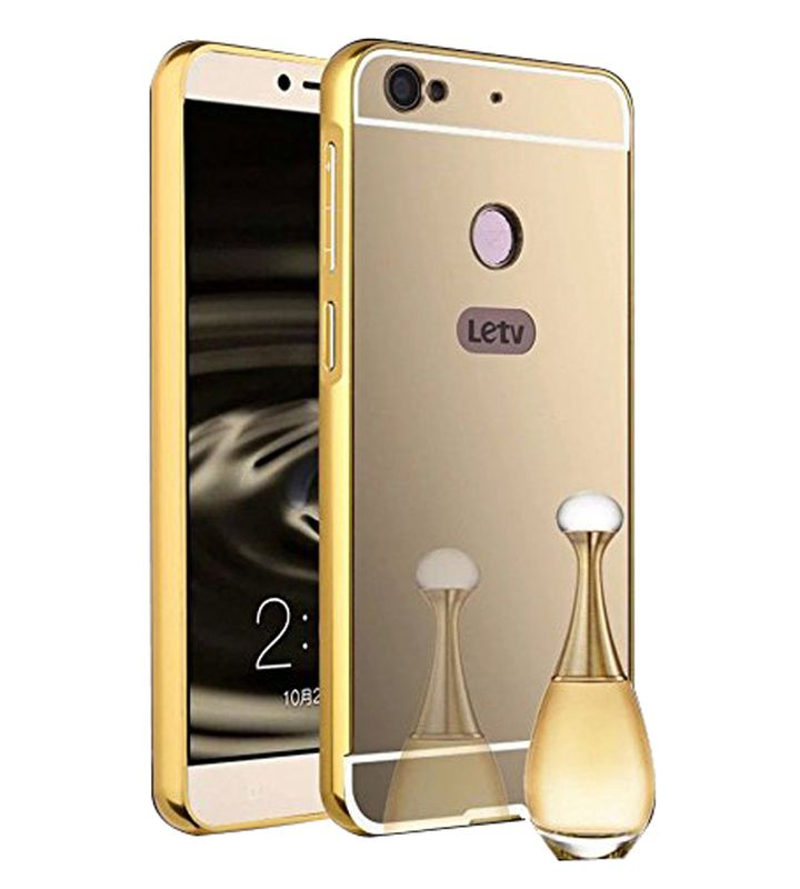 Mirror Back Cover For LeEco Le 1s + Zipper earphone free by Style Crome.
