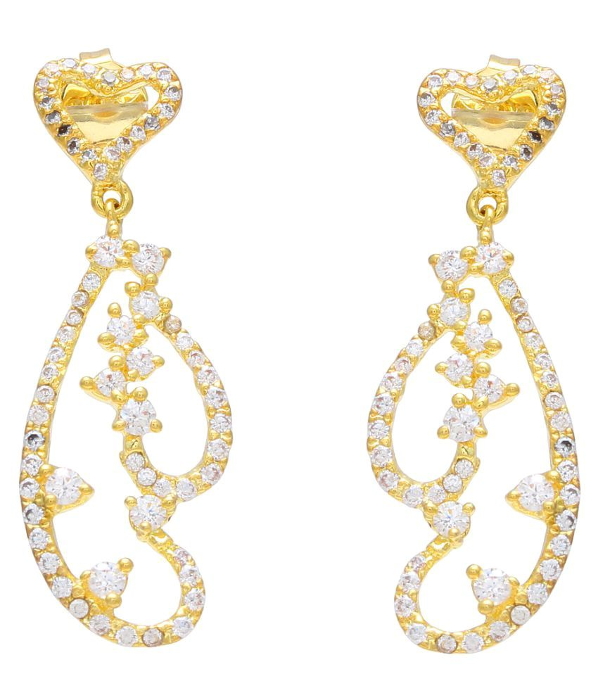 Sparkling Drop Golden Hangings