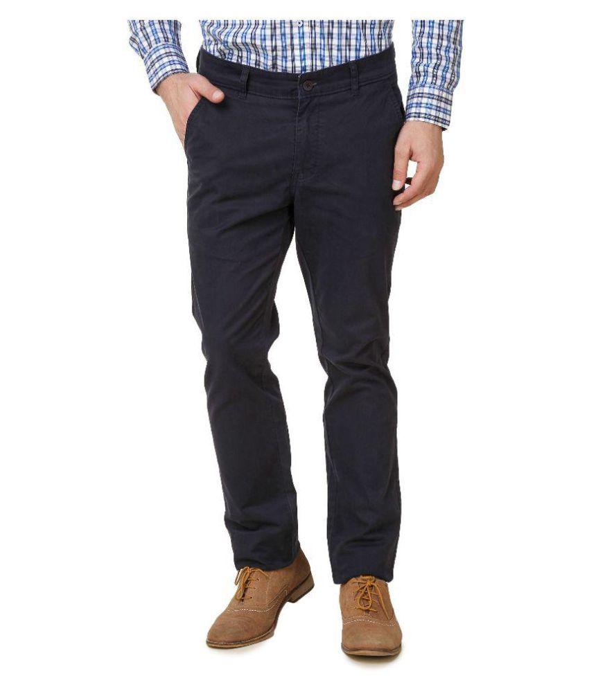 Austin-M Blue Regular Flat Trouser