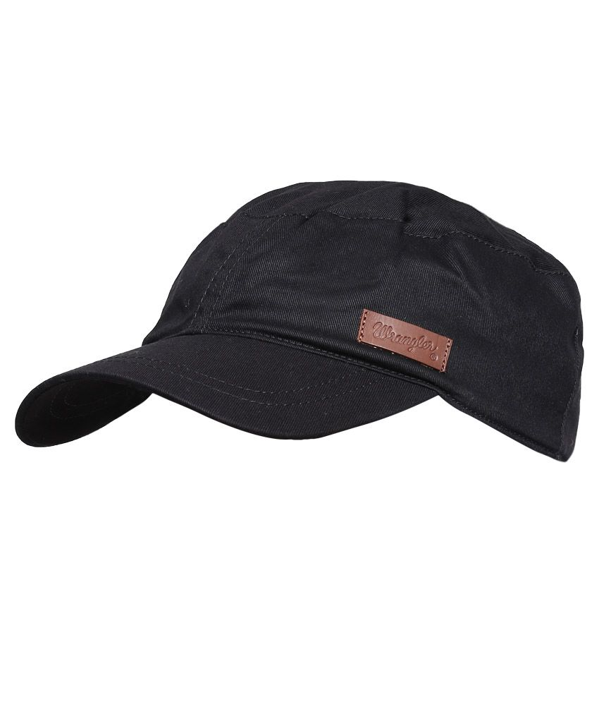 88474eb7a39 Wrangler WRAC0187 Black Men Caps - Buy Online @ Rs. | Snapdeal