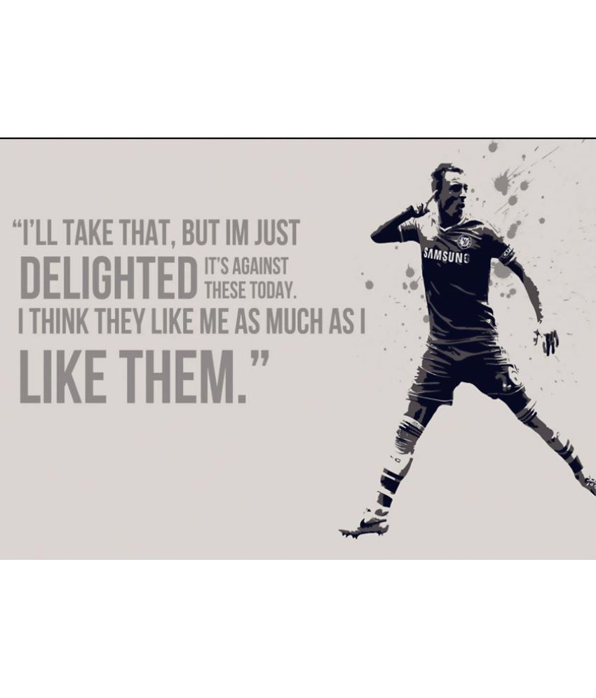 ULTA ANDA Soccer Quote Canvas Art Prints Without Frame Single Piece ...
