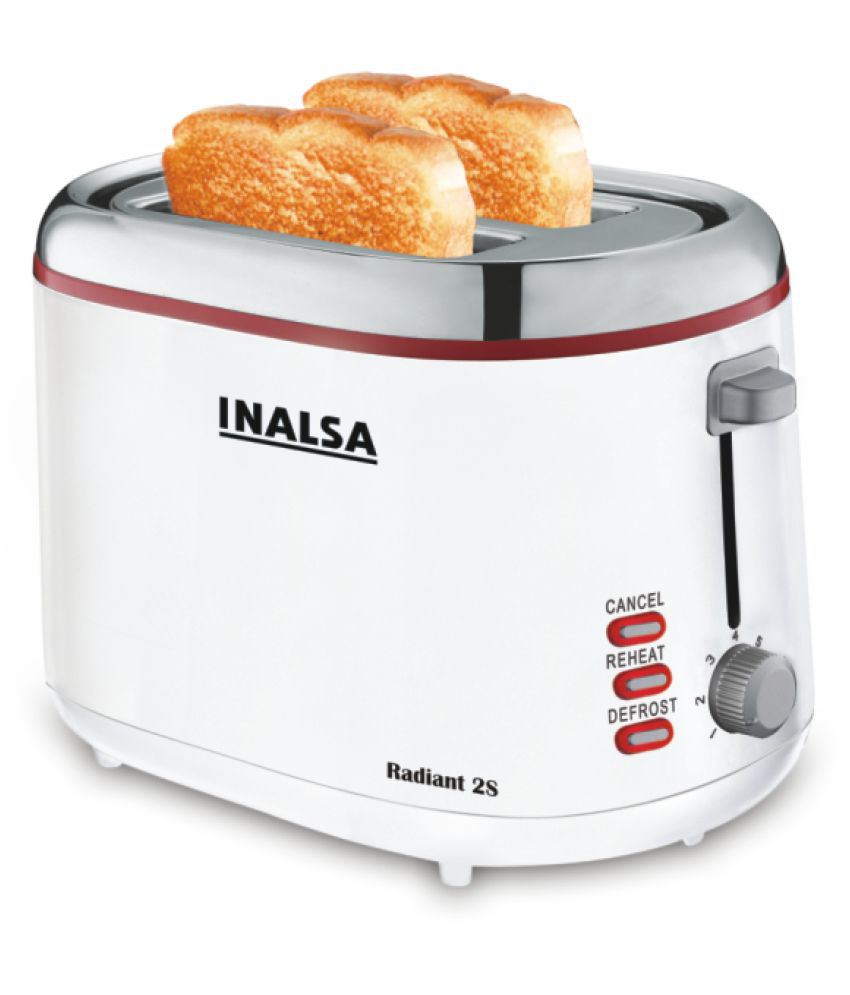 Inalsa Radiant 2S 800W Pop Up Toaster