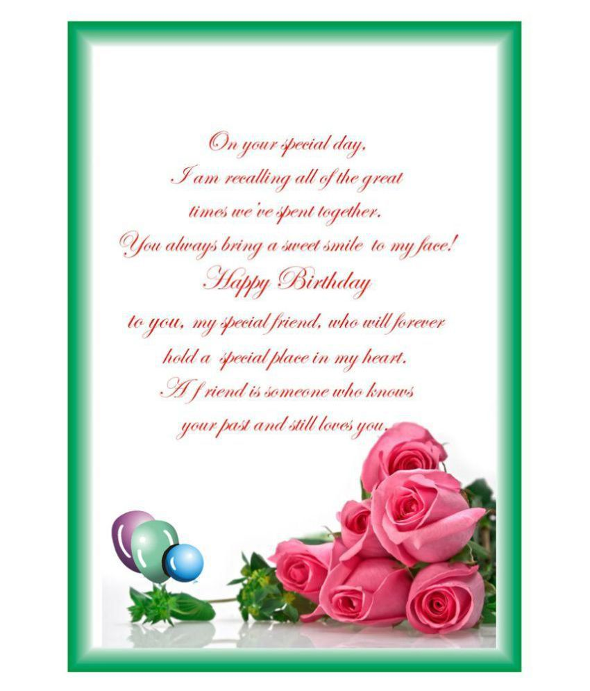 Personalised Birthday Card A4 size Buy Online at Best Price in – Online Personalised Birthday Cards